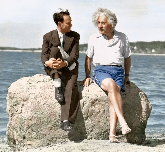 Albert Einstein en Long Island en 1939 - Fotografía por Paul Edwards