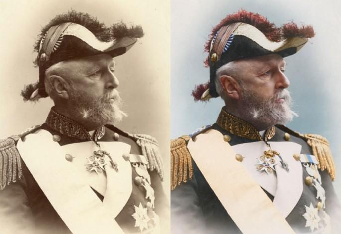 Oscar II, rey de Suecia y Noruega 1880 - Fotografia por Sanna Dullaway