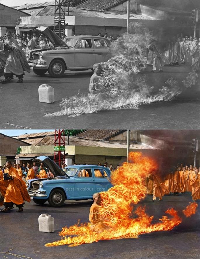 La auto-inmolación de Thich Quang Duc', 1963