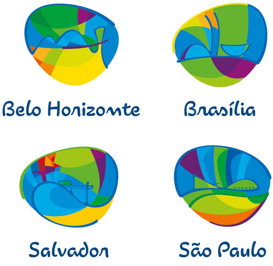 Ejemplo de la identidad corporativa de Rio 2016