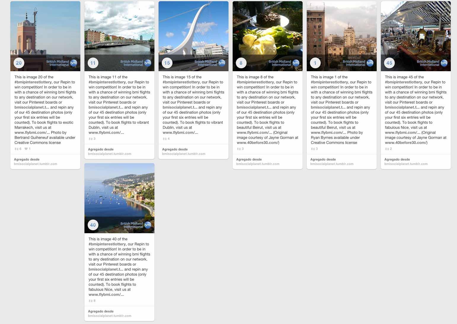 Imagen de algunas fotos de la campaña