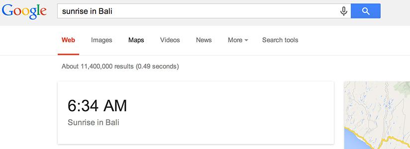 Imagen sobre una de las curiosidades de Google