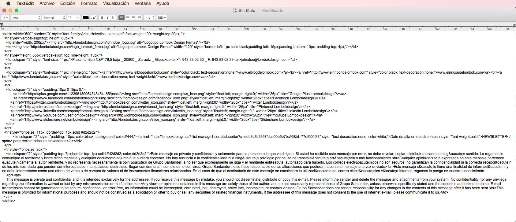 Firma HTML Mail Mac Mavericks Lombokdesign