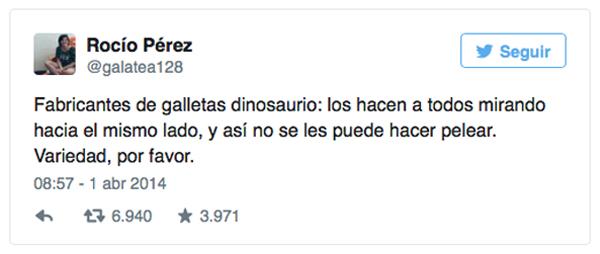 Una tal Rocío Pérez crea una nueva raza de dinosaurios.