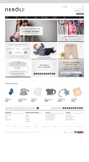 Página web - Neroli - Proyectos - Lombok Design