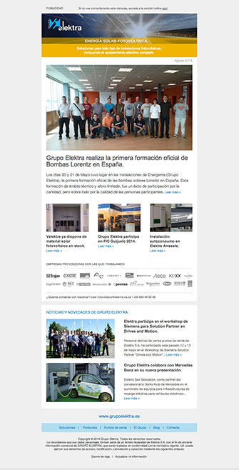Newsletter - Elektra - Proyectos - Lombok Design