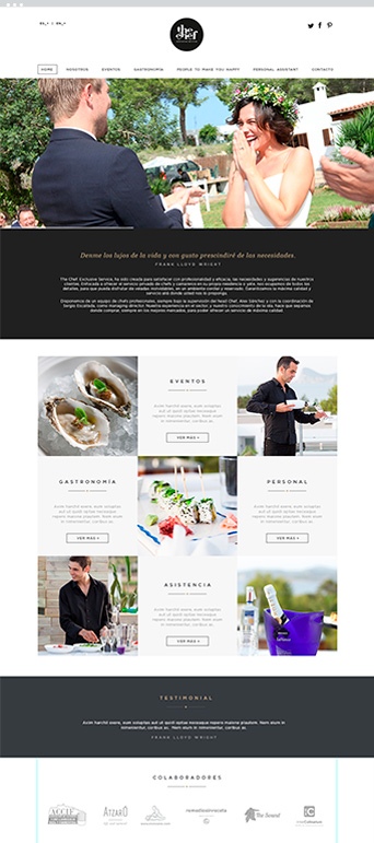 Web Actual - The Chef - Proyectos Lombok Design