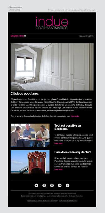 Newsletter - Induo - Proyectos - Lombok Design