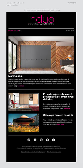 Newsletter 2 - Induo - Proyectos - Lombok Design