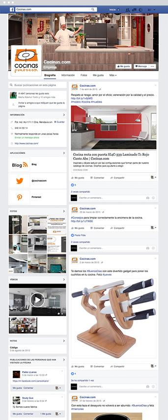 Facebook Cocinas.com