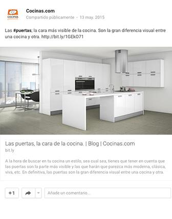Google+ Cocinas.com