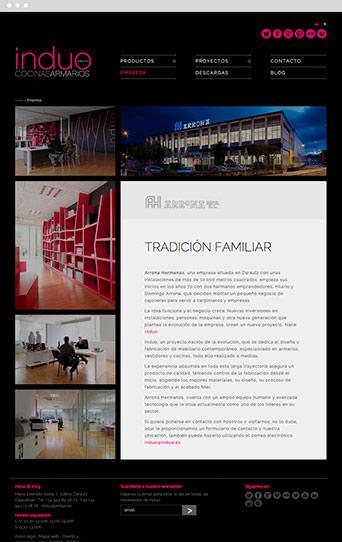 Web Actual 03 - Induo - Proyectos - Lombok Design