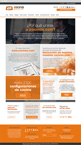 Web actual - Cocinas.com - Proyectos - Lombok Design