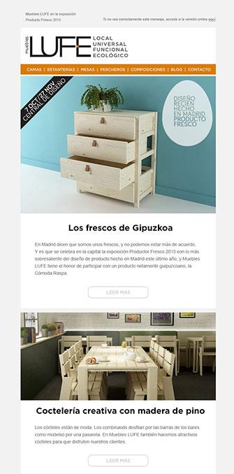 Newsletter - LUFE - Proyectos - Lombok Design