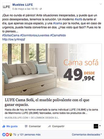 Cama sofa lufe idea de la imagen de inicio - Muebles lufe azpeitia ...